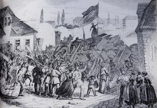 Barrikadenkampf