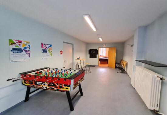 Räumlichkeiten Jugendtreff Mannheim mit Tischkicker