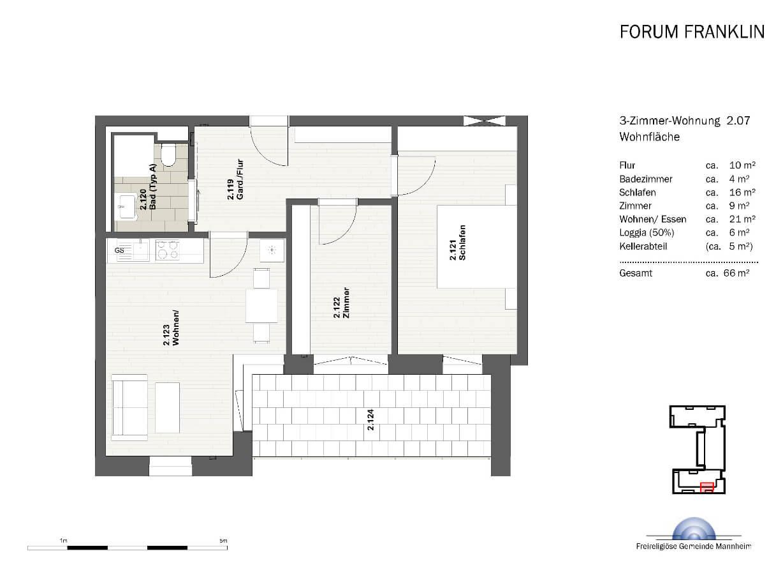 Service-Wohnen 3 Zimmer-Wohnung ca. 66 m²